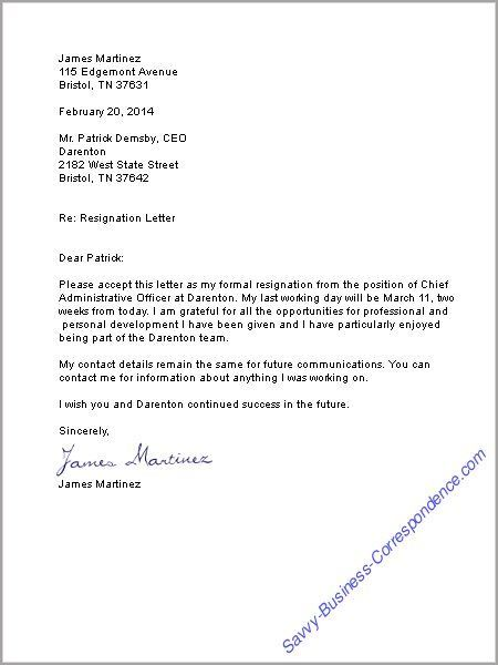 ... Resignation Letter Stuff To Buy Pinterest Business Letter   Different  Types Resignation Letters ...