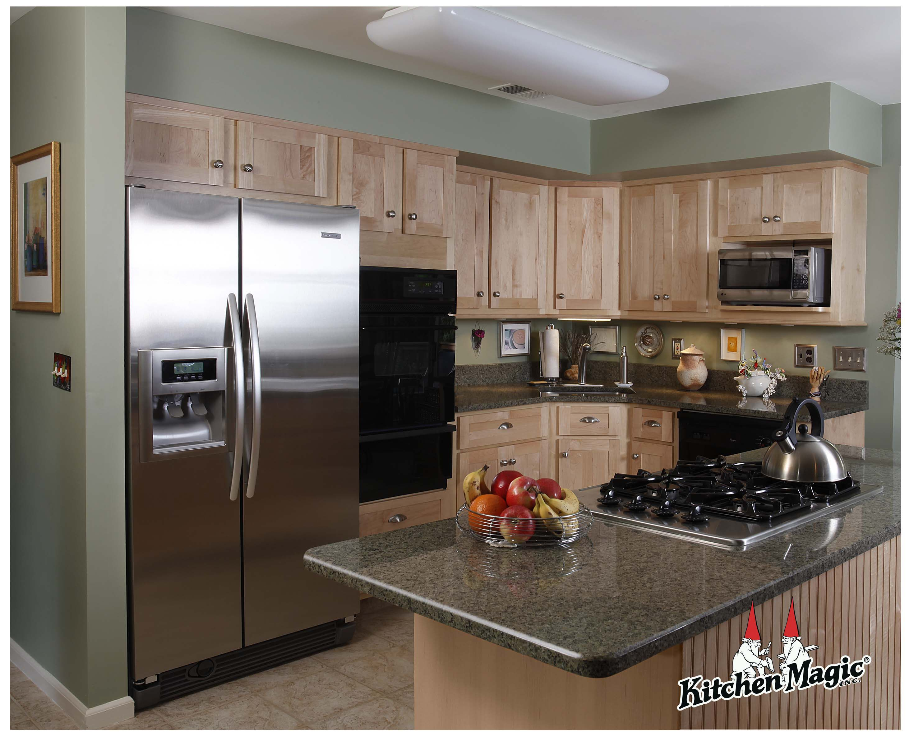 Maple Kitchen Cabinets With Marble Countertops Natural Maple Wood Cabinets Granite Countertop