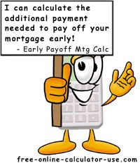 Mortgage Payoff Goal Calculator - estimate how much interest you would save if you paid your ...