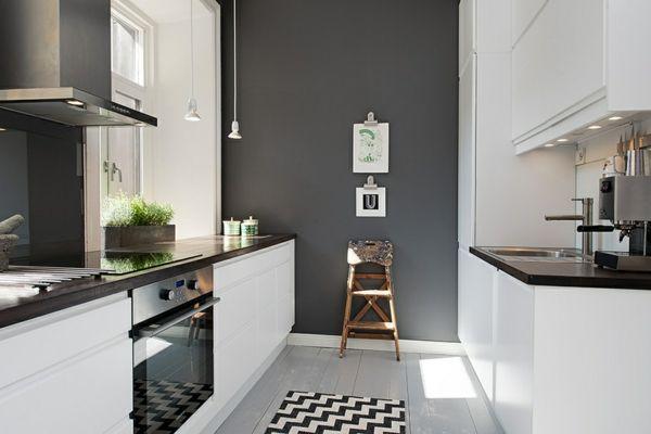 Graue Küche Wandfarbe