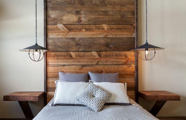 schlafzimmer einrichten bettkopfteil holz Hight Camp Home - schlafzimmer einrichten holz