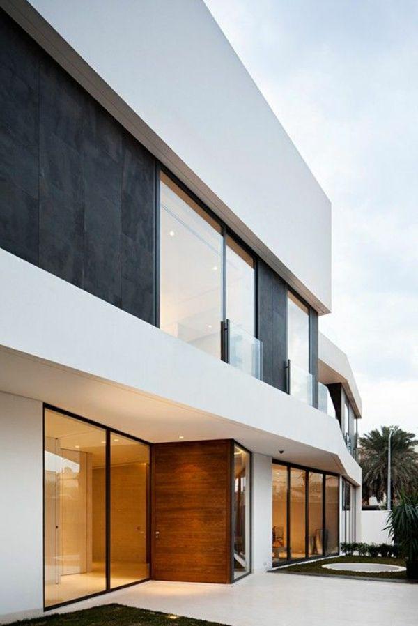 Weiße Fassade für ein modernes und geschmackvolles Haus - Weiß als - fassadenfarbe haus