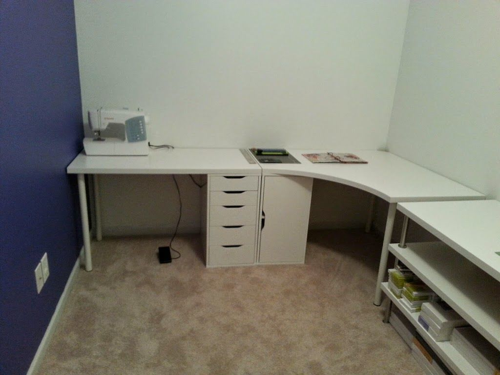 Clean White Computer Desk Setup From Ikea Linnmon Adils With Alex Ikea-corner-desk-linnmon-new-art-studio-desks.jpg 1,024