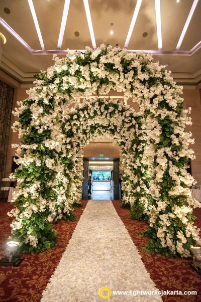 Beautiful wedding gate, created by Lotus Design with ...