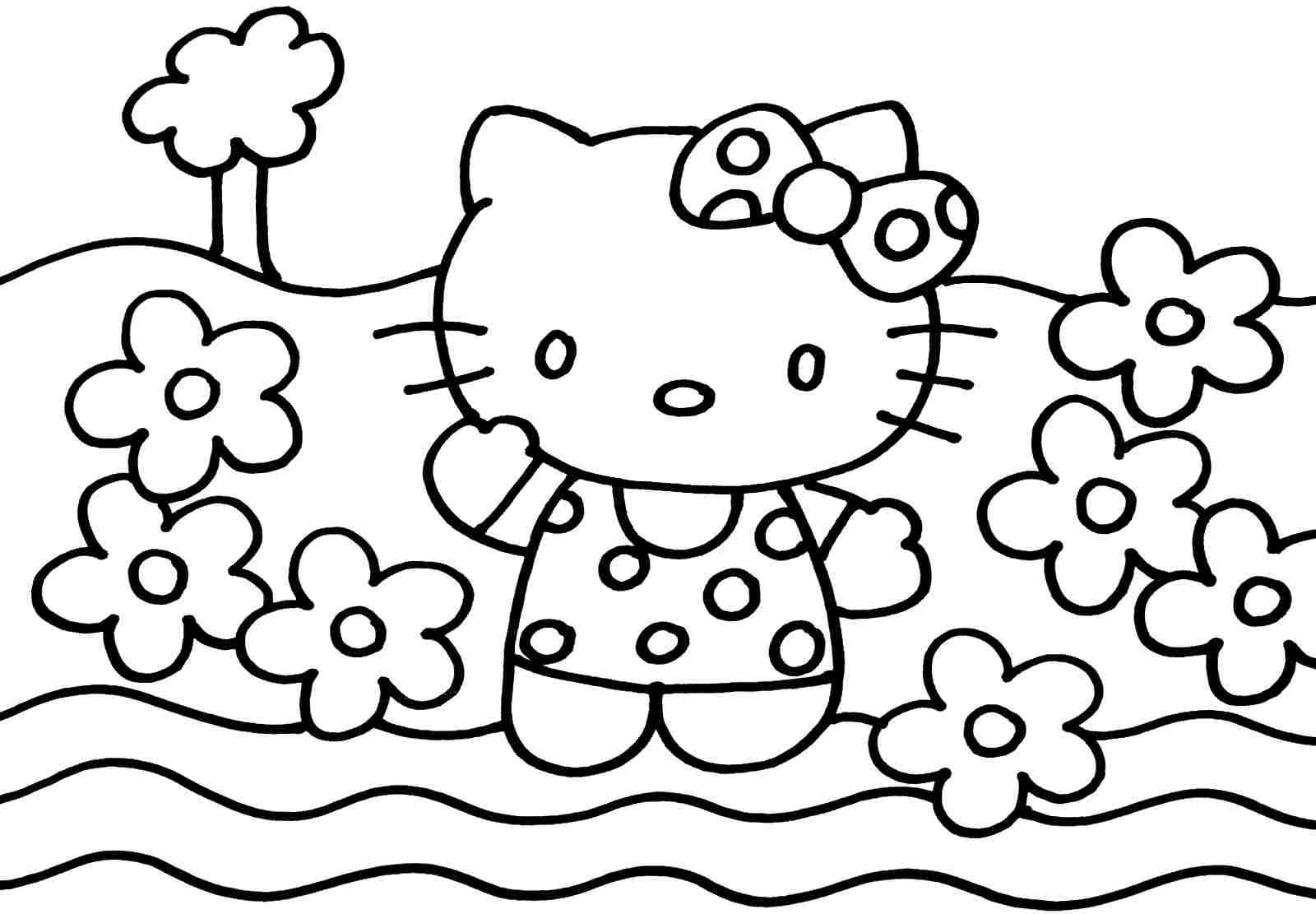Free hello kitty coloring pages to print - Hello Kitty Coloring Page Free Printable Coloring Pages