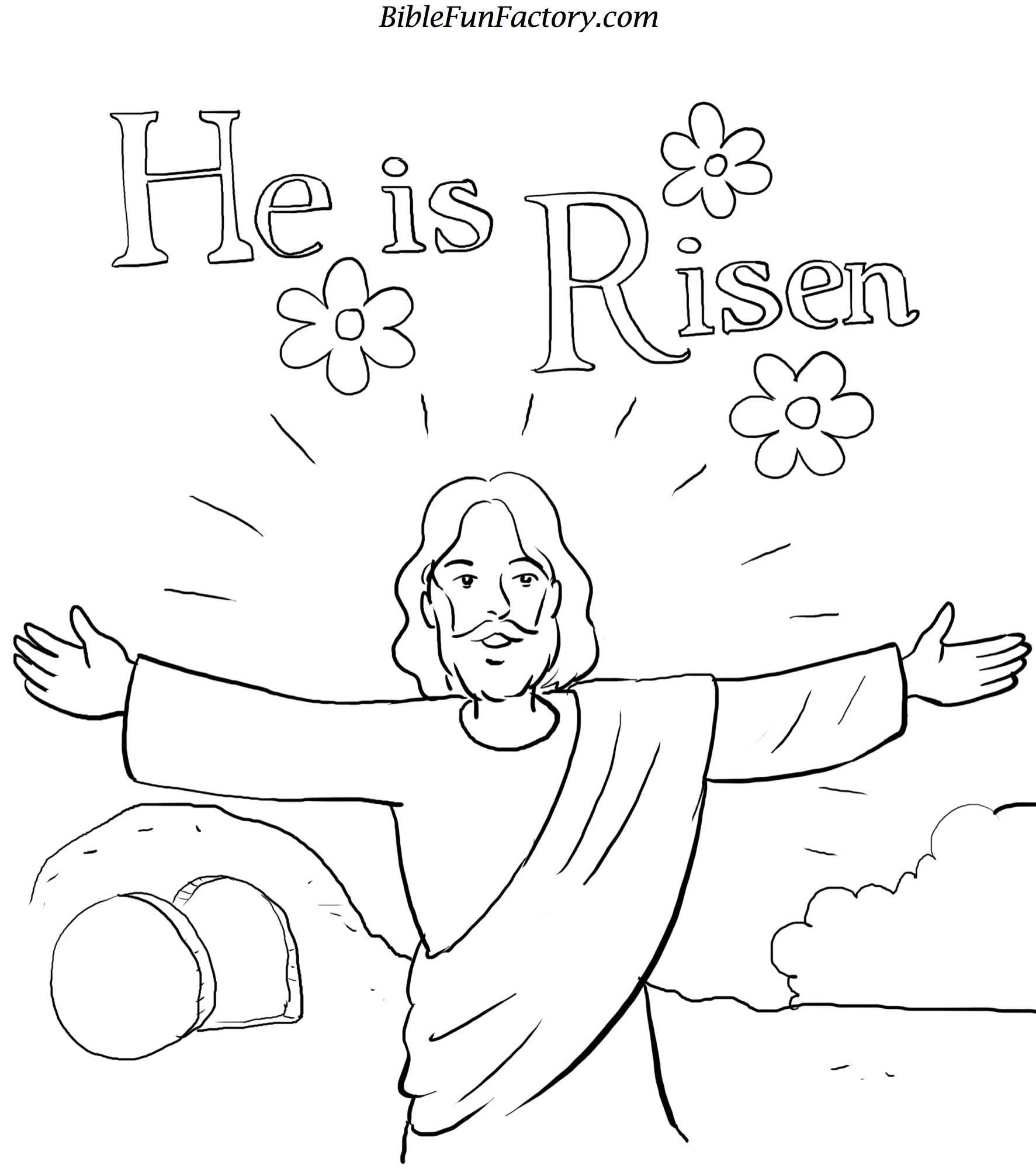 Resurrection coloring pages free easter coloring sheet