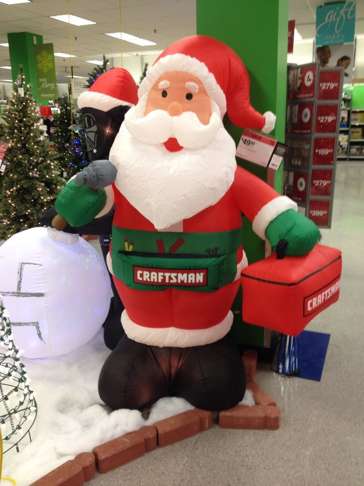 Sears Outdoor Christmas Decorations Part - 37: Sears Craftsman Santa Clause Lawn Decoration Christmas 2014 - Sears Outdoor  Christmas Decorations