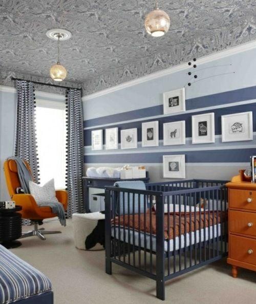 Babyzimmer Streifen Wand Junge Krümel Pinterest gestreifte - kinderzimmer gestalten junge