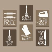 KITCHEN QUOTE Wall Art Funny Utensil Pictures CANVAS by ...