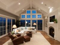 recessed lighting for vaulted ceilings family room corner ...