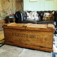 VINTAGE TOOL CHEST Storage Trunk COFFEE TABLE Rustic ...