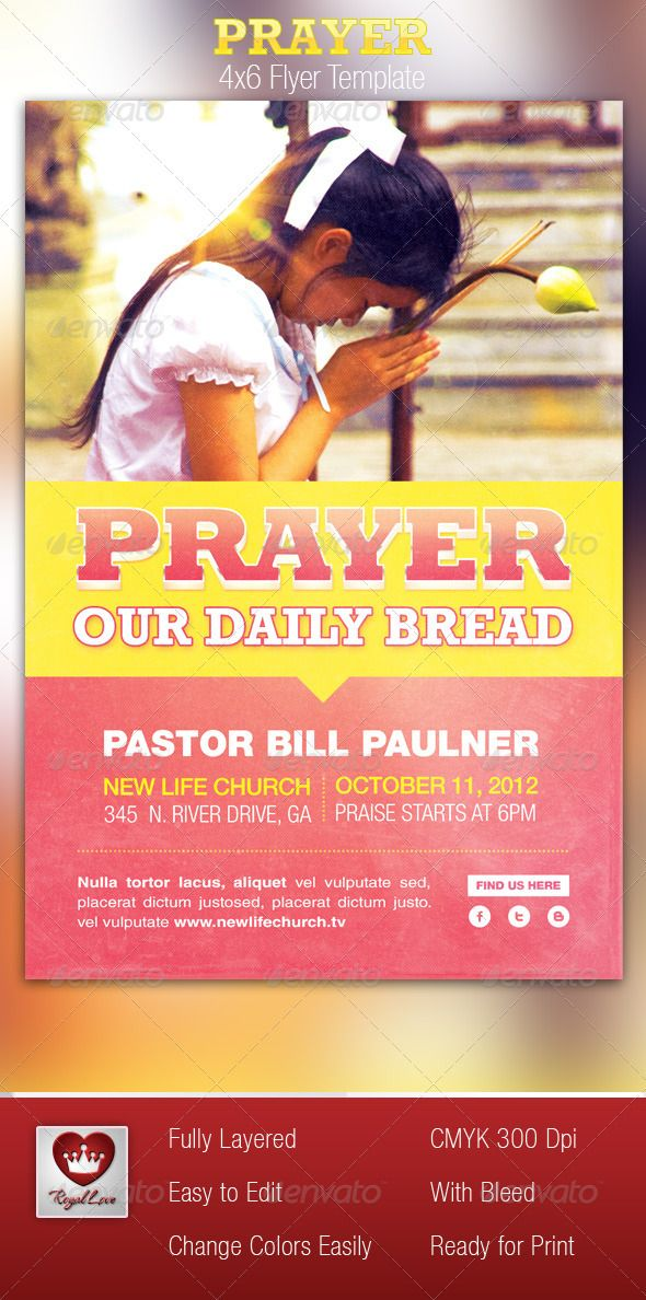 This Prayer Flyer Template is customized for any Contemporary - contemporary flyer