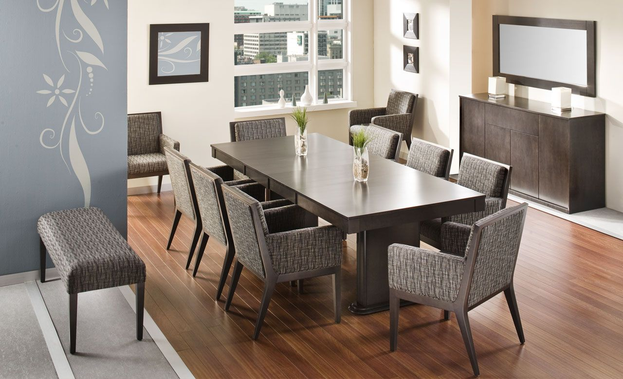 Modern Dining Table Toronto Contemporary Solid Wood Dining Table And Chairs Made In