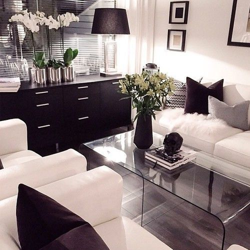 Inspirational image on Living rooms, Room and Modern living - black and white living rooms