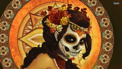day of the dead | Day of the dead mask wallpaper - Fantasy wallpapers - #16284 | Day of the Dead ...