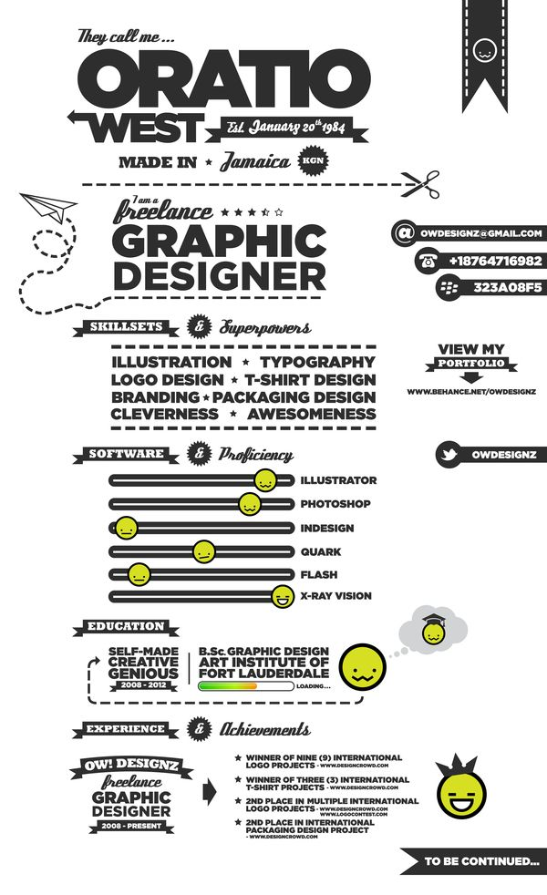 Examples of Creative Graphic Design Resumes Infographics 2012 - resume graphic designer