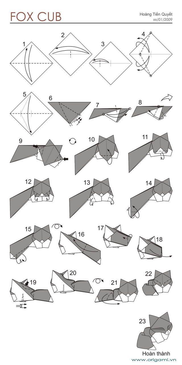 origami parrot diagram