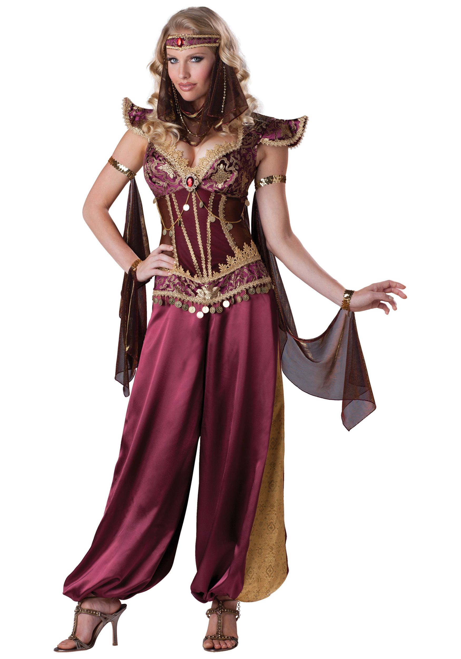 Ally Pin Up Arabian Nights Aladdin Red Adult Women Halloween Costume