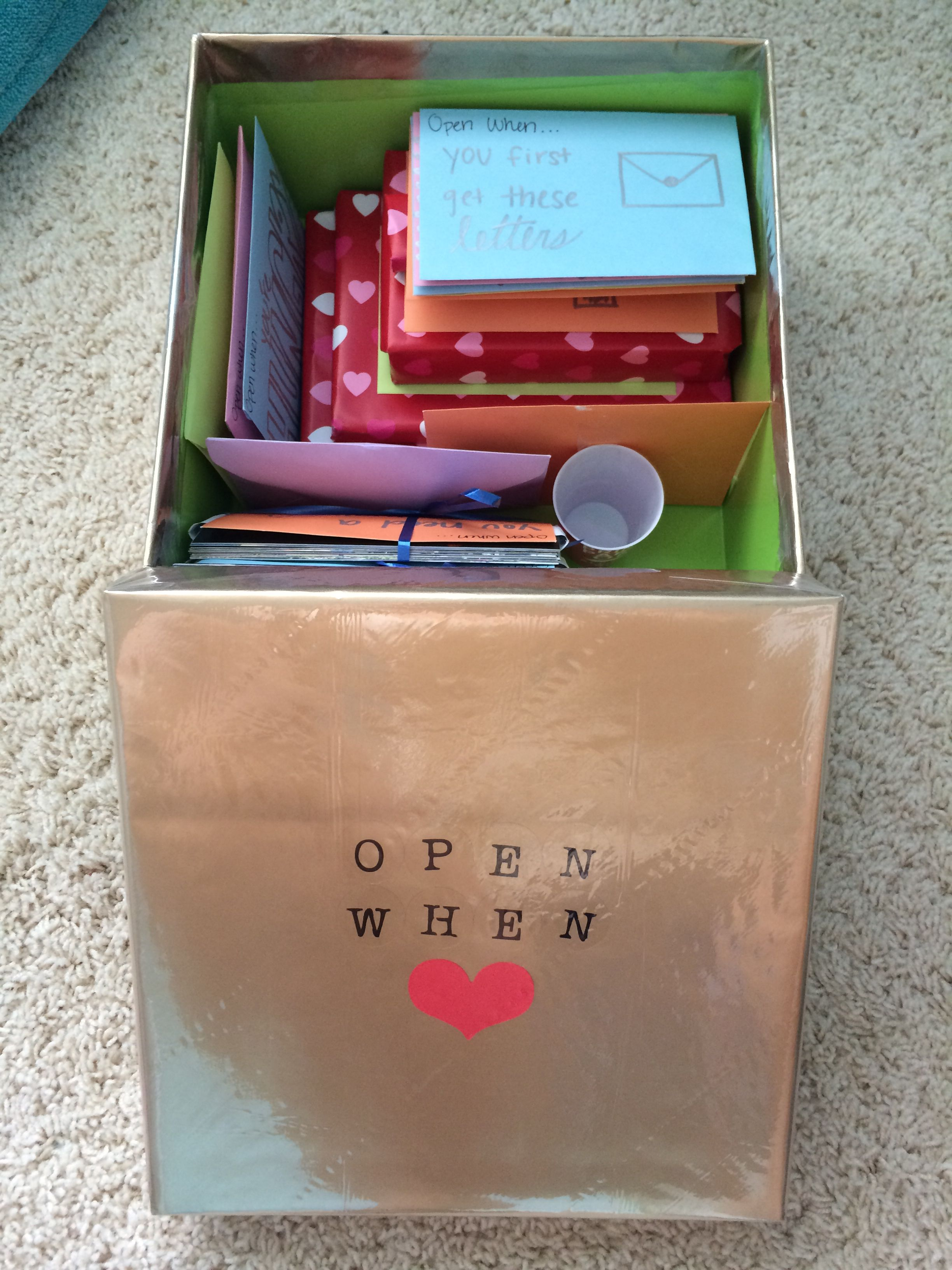 Diy Gifts For Boyfriend Birthday Open When Letters Box With Small Presents Very Cute Idea