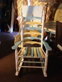 Painted Rocking Chair - blue/yellow color combo | Lake ...
