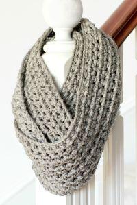Basic Chunky Infinity Scarf Crochet Pattern | Chunky ...