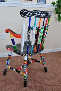 My crazy painted chair | DIY | Pinterest | Paint furniture ...
