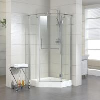 """36"""" x 36"""" Alver Neo Angle Shower Enclosure with subway ..."""