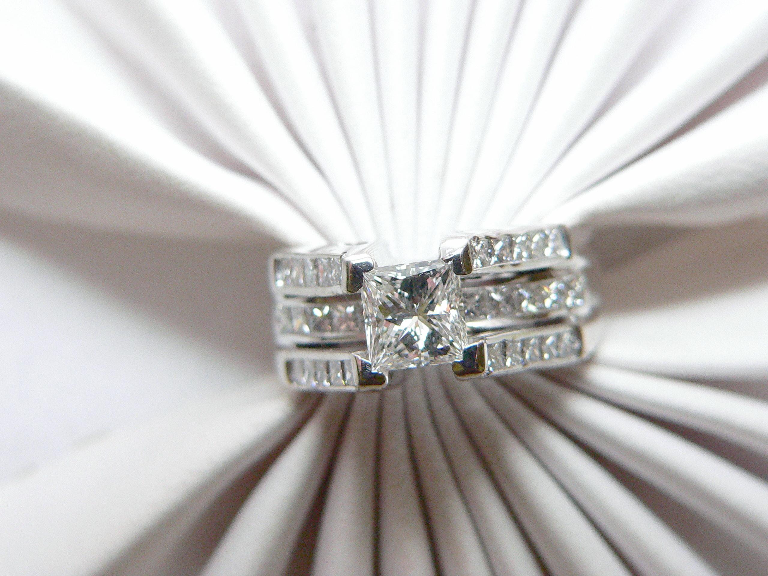 princess cut wedding rings