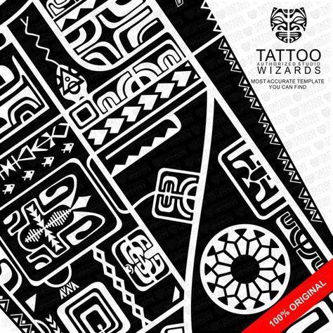 Maori Tawhirimatea Warrior Tattoo Template - Tattoo Wizards - tattoo template