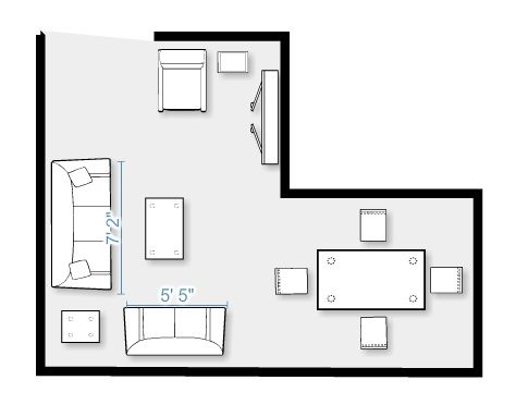 Furniture layout for my split level living room Whispering Woods - living room layout planner