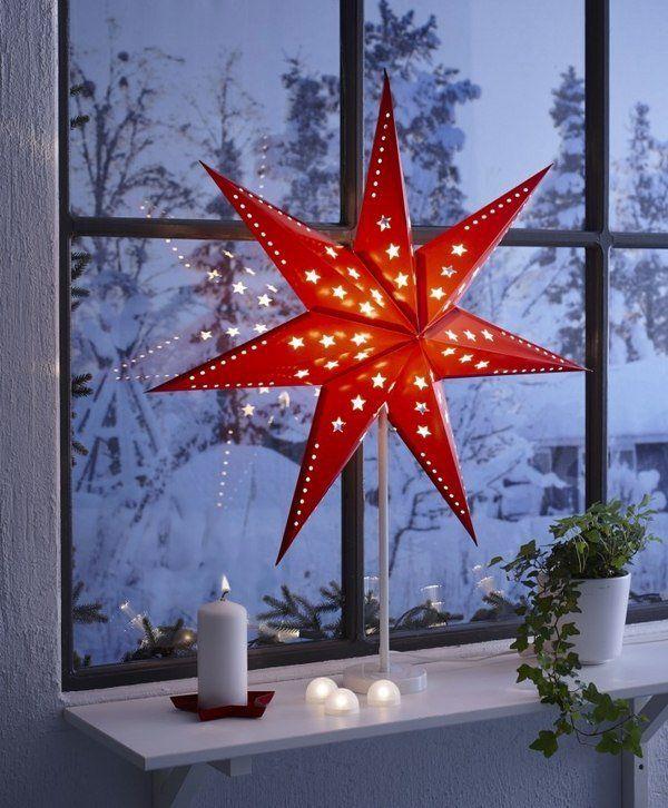 30 Outstanding Indoor Window Decorations For Christmas Christmas - christmas star decorations