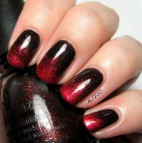 45+ Stylish Red and Black Nail Designs | Ombre nail art ...