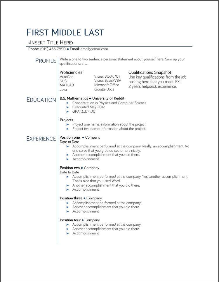 Google Docs Resume Template 2015 - http\/\/wwwjobresumewebsite - college resume tips