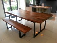 Suar Wood Dining Table with metal Legs 220x100x78cm | Suar ...