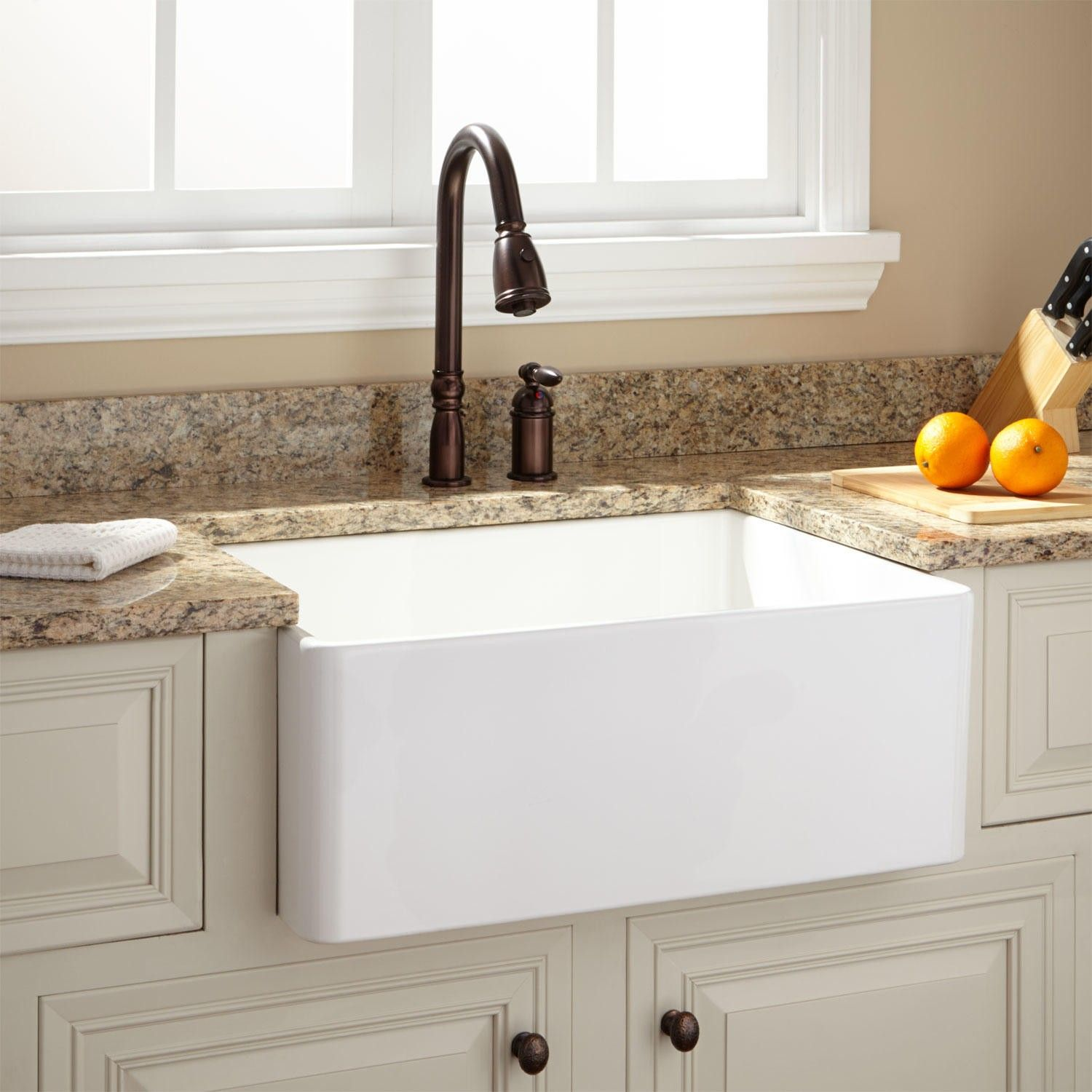 26 Inch Farmhouse Sink 26 Quot Baldwin Fireclay Farmhouse Sink Smooth Apron White
