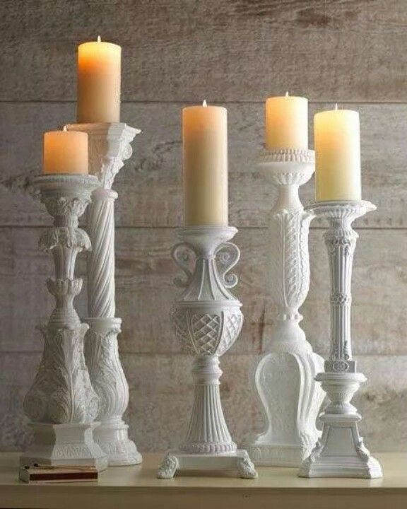 Lamp Bases Repurposed Into Candle Sticks Make It New