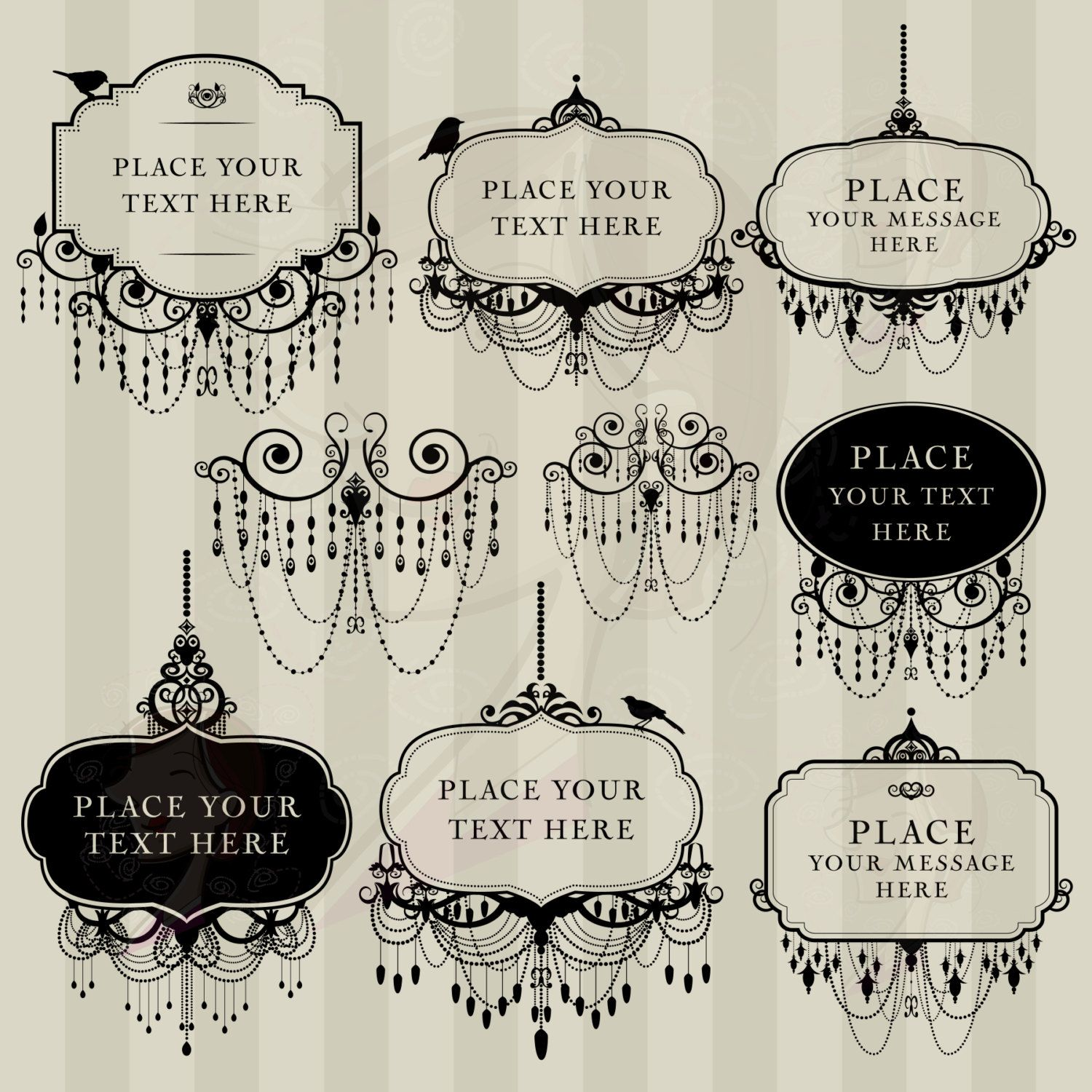 Schrank Tattoo Vintage Digital Clip Art Frame Chandelier Vintage Diy Wedding