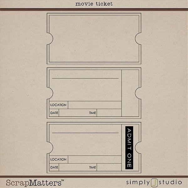 movie ticket template crafts Pinterest Ticket template - printable ticket template free