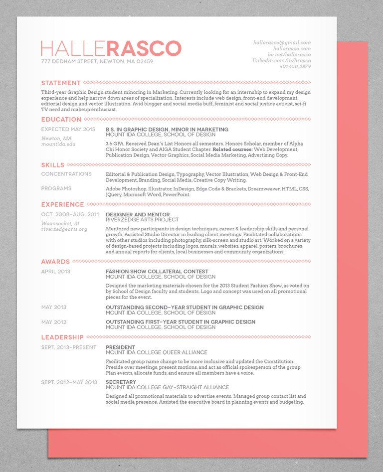 50 Inspiring Resume Designs And What You Can Learn From Them - unique resume templates