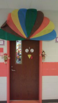 Turkey door for Thanksgiving | classroom ideas | Pinterest ...