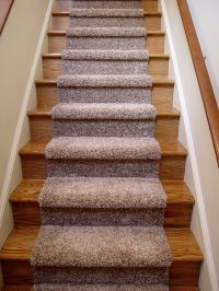 beautiful carpet runner for wooden stairs with nice blue ...