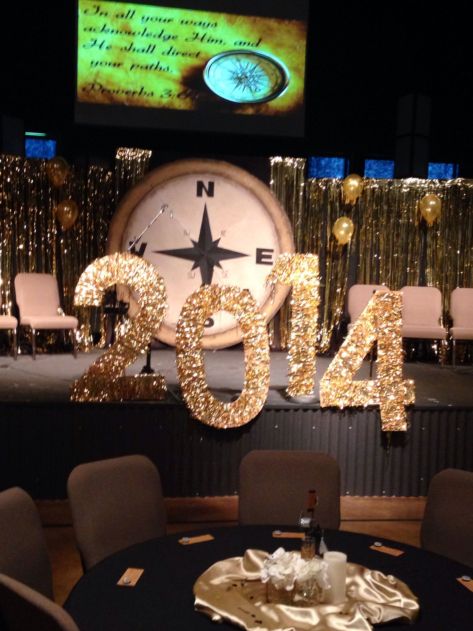 Graduation Stage Decoration Compass In All Your Ways
