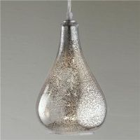 Glass Bulb Pendant - Clear Crackled or Mercury Glass ...