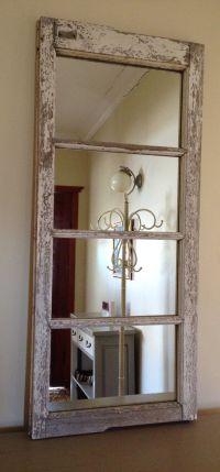 Old window new mirror. Upcycled casement windows. Shabby ...