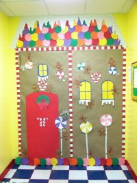 Mine and Kaitlyn's Gingerbread house classroom door for ...