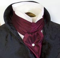 REGENCY SCARF Victorian Style Ascot Tie Cravat Maroon Wine ...