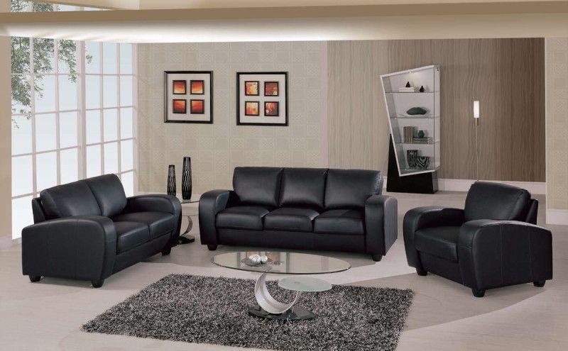 Black Leather Sofa u2013 Contemporary Sofas Beautifying Living Room - grey living room rug