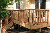 wood deck railing design | Deck | Pinterest | Wood deck ...