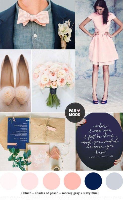Navy blue and peach wedding colors Sofa, Wände und Farben - farben fur wande