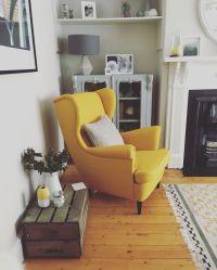 Strandmon Chair IKEA. Love this yellow beauty. | Living ...